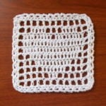 Filet Heart Coaster/Square Chart