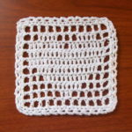 Filet Heart Coaster/Square – FREE Crochet Pattern