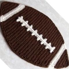 Football Placemat ~ FREE Crochet Pattern