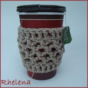 Mesh Cup Sleeve Free Crochet Pattern