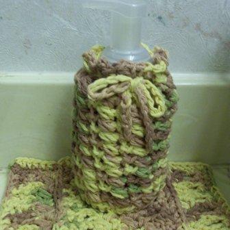 Puff Stitch Hand Soap Cozy