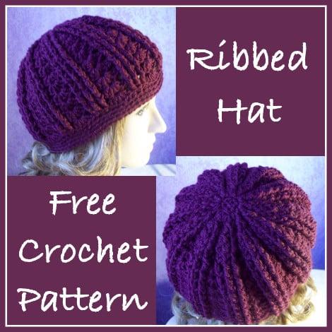 Easy Crochet Ribbed Hat Patterns : Ribbed Hat ~ FREE Crochet Pattern