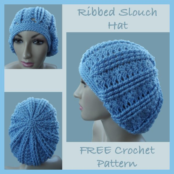 Ribbed Slouch Hat ~ FREE Crochet Pattern