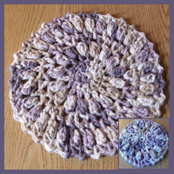 Crochet Round Hot Pad Pattern and Coaster
