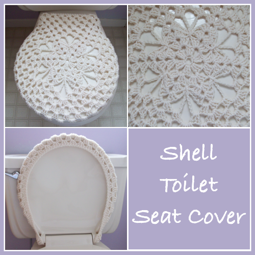 Shell Toilet Seat Cover Free Crochet Pattern