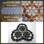 Snowflake Table Runner or Doily
