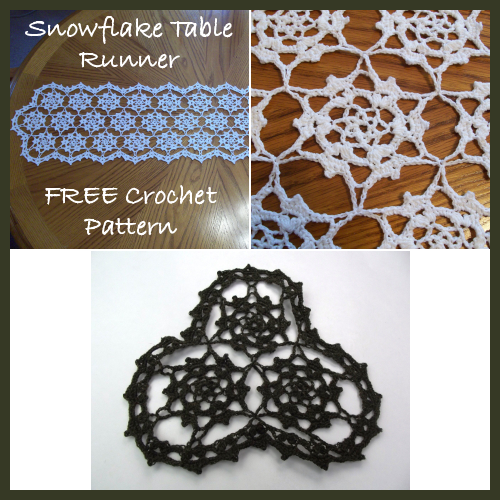 Snowflake Table Runner FREE Crochet Pattern Inspiration Free Crochet Table Runner Patterns