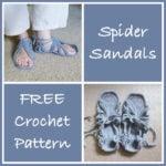 Crochet Spider Sandals