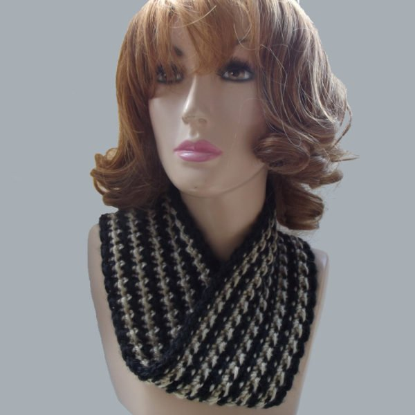 Striped Infinity Cowl