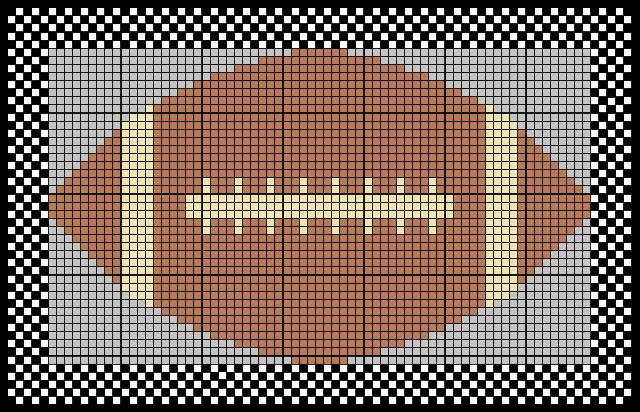 Free Crochet Football Rug Pattern : Tapestry Football Mat ~ FREE Crochet Pattern