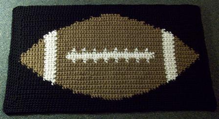 Tapestry Football Mat