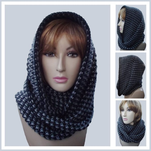 Free Crochet Pattern For A Cowl : Yin and Yang Infinity Cowl ~ FREE Crochet Pattern