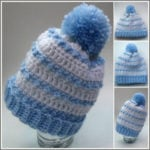 Baby Striped Hat - Crochet Pattern