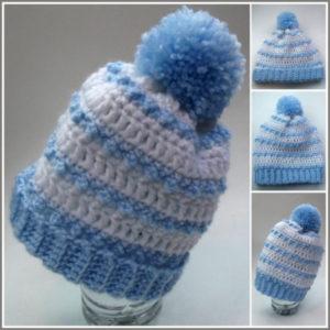 Baby Striped Hat - Crochet Pattern