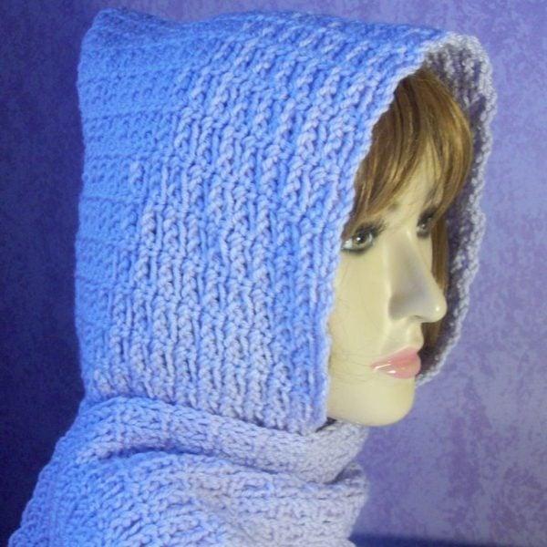 Beginner Chain Stitch Hooded Scarf Free Crochet Pattern