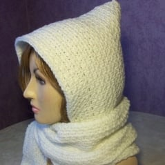Beginner Hooded Scarf Crochet Pattern