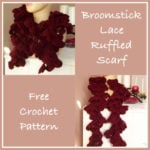 Broomstick Lace Ruffled Scarf - Free Crochet Pattern
