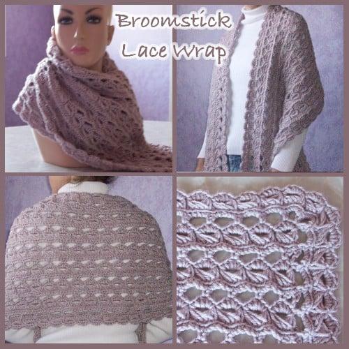 Broomstick Lace Wrap - Free Crochet Pattern