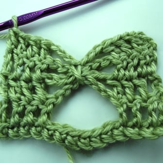 Crochet Butterfly Stitch Tutorial - Step 10