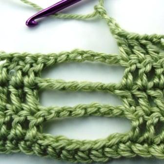 Crochet Butterfly Stitch - Step 5.