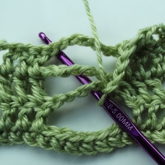 Crochet Butterfly Stitch - Step 6
