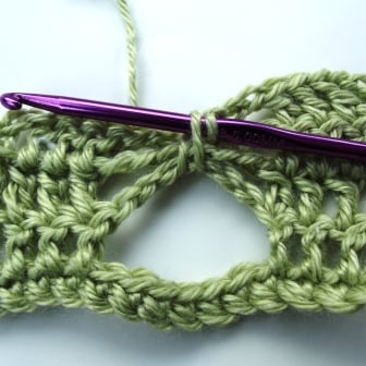 Crochet Butterfly Stitch Tutorial - Step 7