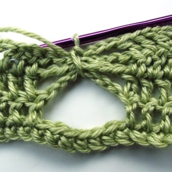 Crochet Butterfly Stitch Tutorial - Step 8