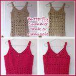 Butterfly Summer Tank Top – Free Crochet Pattern