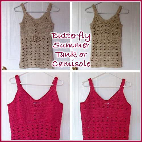 Butterfly Summer Tank Top ~ FREE Crochet Pattern