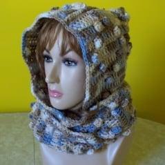 Diamond Hooded Scarf - Free Crochet Pattern