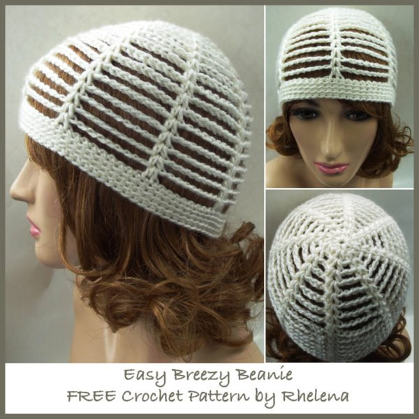 Easy Breezy Beanie - FREE Crochet Pattern