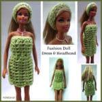 Fashion Doll Dress and Headband