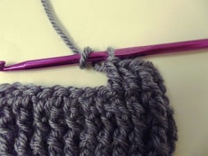 Wrap the yarn over the hook