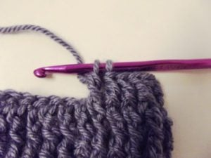 Wrap the yarn and pull through 2 loops.