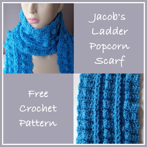Jacobs Ladder Popcorn Scarf Free Crochet Pattern