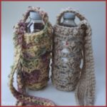 Lacy Shell Water Bottle Holder - FREE Crochet Pattern