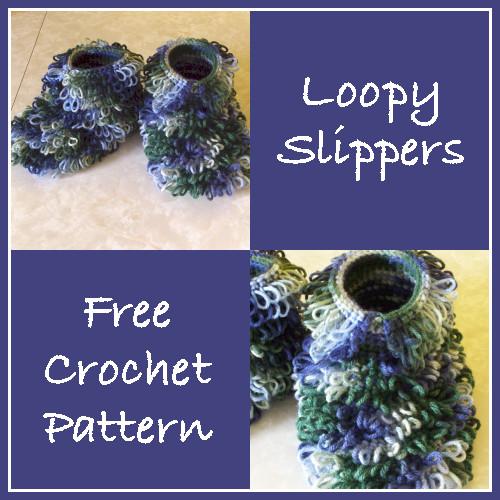 Loopy Slippers - Free Crochet Pattern