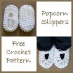 Popcorn Slippers - FREE Crochet Pattern
