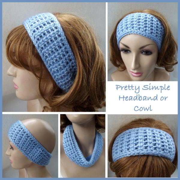 Free Crochet Pattern For Easy Headband : Pretty Simple Headband or Cowl ~ FREE Crochet Pattern