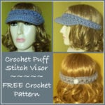 Crochet Puff Stitch Visor