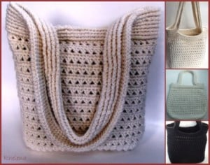 Ribbed Crochet Handbag Pattern