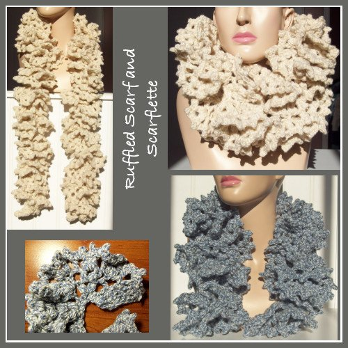 Ruffled Scarf and Scarflette ~ FREE Crochet Pattern