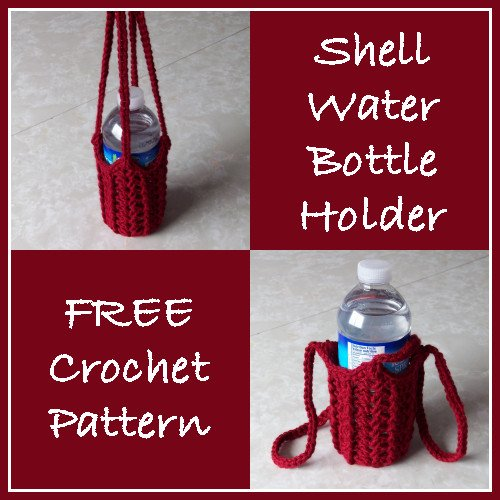 Shell Water Bottle Holder Free Crochet Pattern