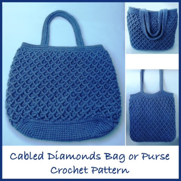 Cabled Diamonds Bag Crochet Pattern