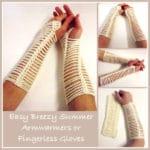 Easy Breezy Armwarmers ~ FREE Crochet