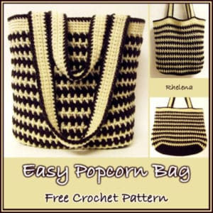 Easy Popcorn Bag by CrochetN'Crafts
