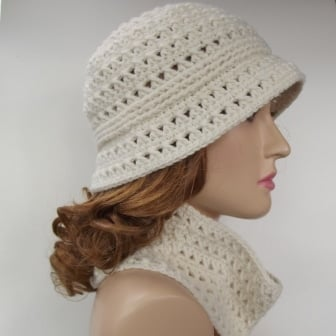 Crochet Brim Hat and Cowl Pattern