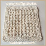 Bouncy Bubbly Dishcloth ~ FREE Crochet Pattern