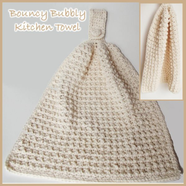 Bouncy Bubbly Kitchen Hand Towel FREE Crochet Pattern Beauteous Crochet Kitchen Towel Pattern