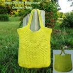 Moss Stitch Beginner Crochet Bag ~ FREE Crochet Pattern